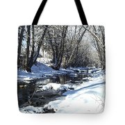 Boulder Creek After A Snowstorm Tote Bag