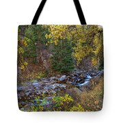 Boulder Creek Autumn View  Tote Bag