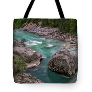 Boulder In The River - Slovenia Tote Bag