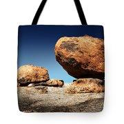 Boulder On Solid Rock Tote Bag