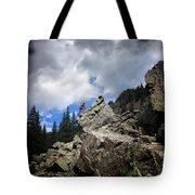 Bouldering On The Flint Creek Trail - Weminuche Wilderness Tote Bag