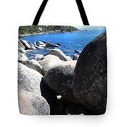 Boulders On Lake Tahoe Tote Bag