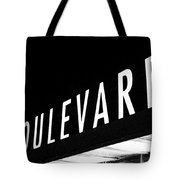 Boulevard Lights Up The Night Tote Bag by Angie Rayfield