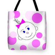 Bouncing Baby Girl Tote Bag