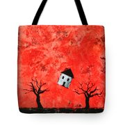 Bouncing House Fiery Sky Tote Bag