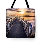Bountiful Lake Pier Tote Bag