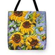 Bouquet Del Sol Sunflowers Tote Bag