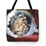 Bouquet In A Theater Box Tote Bag