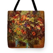 Bouquet In Front Of A Mirror 1877 Tote Bag