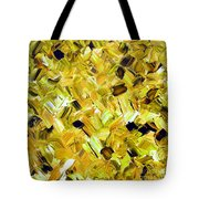Bouquet In Gold Tote Bag