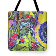 Bouquet In Yellow And Red Tote Bag