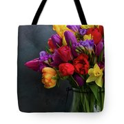 Spring Flowers In Vase Tote Bag