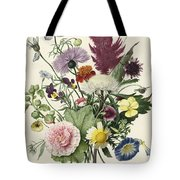 Bouquet Of Flowers, Anonymous, 1680 Tote Bag