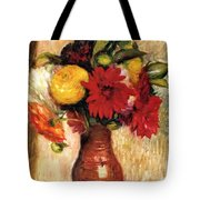 Bouquet Of Flowers In An Earthenware Pitcher Tote Bag
