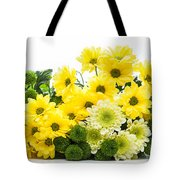 Bouquet Of Fresh Spring Flowers Isolated On White Tote Bag