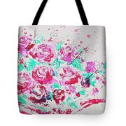Bouquet Of Pink Roses Tote Bag
