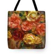 Bouquet Of Roses In A Vase 1900 Tote Bag