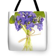 Bouquet Of Violets Tote Bag by Elena Elisseeva