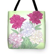 Bouquet With White And Pink Peonies.spring Tote Bag