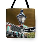Bourbon And St. Phillip Streets Tote Bag