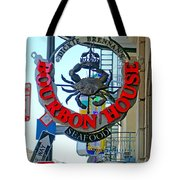 Bourbon House Signage Tote Bag