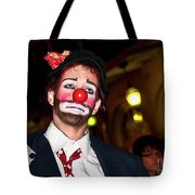 Bourbon Street Clown Mime Tote Bag