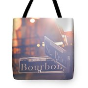 Bourbon Street New Orleans La Tote Bag
