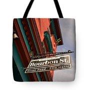 Bourbon Street Sign Tote Bag