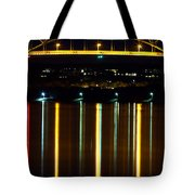 Bourne Bridge At Night Cape Cod Tote Bag by Matt Suess