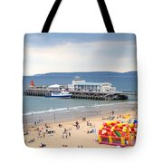 Bournemouth Pier And Beach Tote Bag