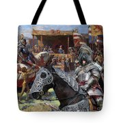 Bouvier Des Flandres - Flandres Cattle Dog Art Canvas Print - Knights Tournir Tote Bag