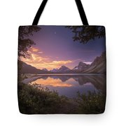 Bow Lake At Dawn Tote Bag