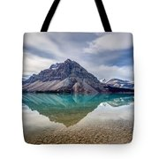 Bow Lake Reflection From Num-ti-jah Lodge  Tote Bag