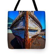 Bow Of Old Worn Boat Tote Bag