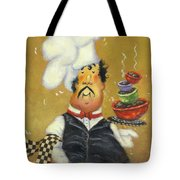Bow Tie Chef Four Bowl Tote Bag