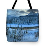 Bow Valley River Giant Panorama Tote Bag