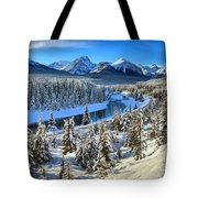 Bow Valley Winter View Tote Bag