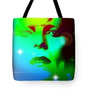 Bowie In Blue Tote Bag
