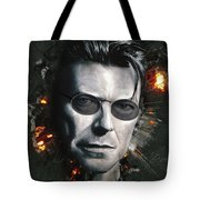 Bowie With Glasses Tote Bag