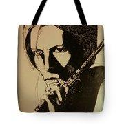 Bowie's Got A Gun Tote Bag