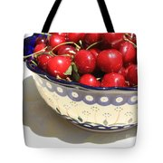 Bowl Of Cherries With Shadow Tote Bag
