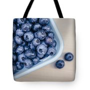 Bowl Of Fresh Blueberries Tote Bag