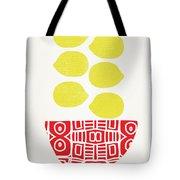 Bowl Of Lemons- Art By Linda Woods Tote Bag