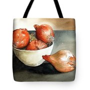 Bowl Of Onions Tote Bag