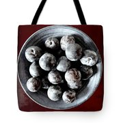 Bowl Of Plums Still Life Tote Bag