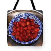 Bowl Of Strawberries 1 Tote Bag by Douglas Barnett