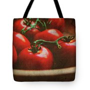 Bowl Of Tomatoes Tote Bag by Toni Hopper