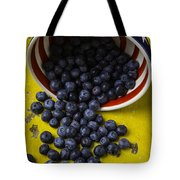 Bowl Pouring Out Blueberries Tote Bag