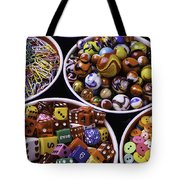 Bowls Full Of Marbles And Dice Tote Bag