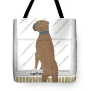 Boxer Dog Art Hand-torn Newspaper Collage Art Tote Bag